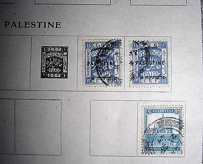 lot de 3 timbres, old stamps, PALESTINE