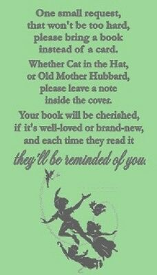 Peter Pan Baby Shower Book Request Tickets Party Favors Cards