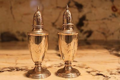 Salt And Pepper Shakers By Stieff Sterling Silver  Style R / 03
