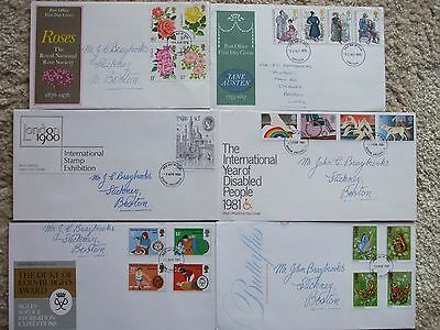Collection 'B' - 6 First Day Commemorative Covers - Addressed.