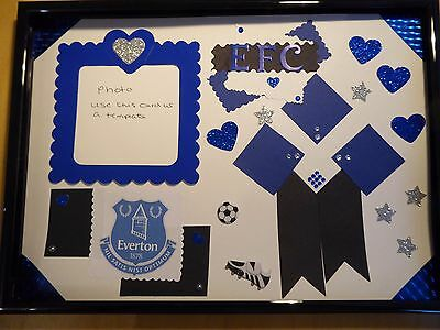Everton football club themed scrapbook picture (without frame)