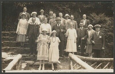 Visitors at the Manx Electric Railway, Isle of Man, c.1920s - MER Co RP Postcard