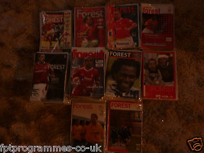 /Nottm Forest  Home Programmes 1998/99 to 2008/09 .  Select from list