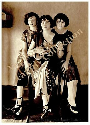 Boswell Sisters w/Uke 1st Victor Record Stool Pose 1925 5x7 matted to 8x10 #T8