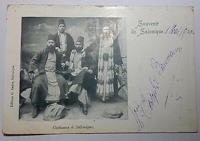 Costumes A Salonique -  Grecia 1900