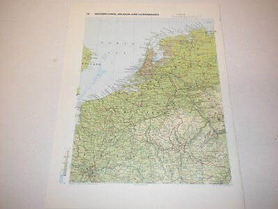 NETHERLANDS BELGIUM & LUXEMBOURG Map Old Original Print 1986  West Germany