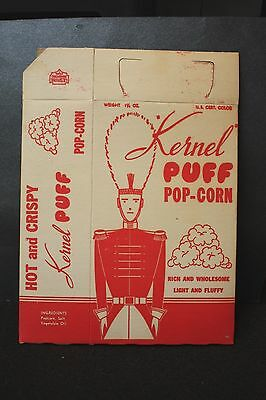 Vintage Kernel Puff Pop Corn Box,  1950's.  New/old Unused Stock
