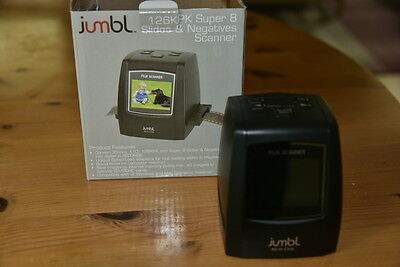 Jumbl 22MP All-In-1 Film & Slide Scanner w/ Speed-Load Adapters for 35mm New