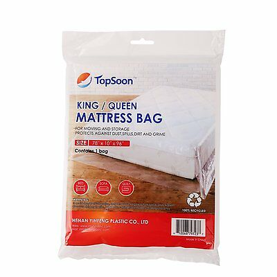 """TopSoon Plastic Mattress Bag for King / Queen, Size 78"""" x 96"""""""