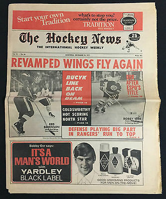 The Hockey News Volume 25 #10 December 1971 Canadian Issue