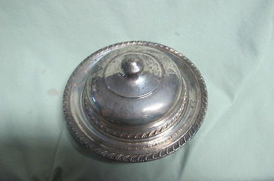 Vintage  Manchester Sterling Silver Covered Dish