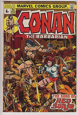 Conan the Barbarian 24  Roy Thomas & Barry Smith - 1st FULL appearance Red Sonja