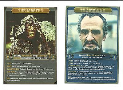 Dr WHO (THE MASTER) SET OF EX/LG CARDS FROM AUSTRALIAN DVD