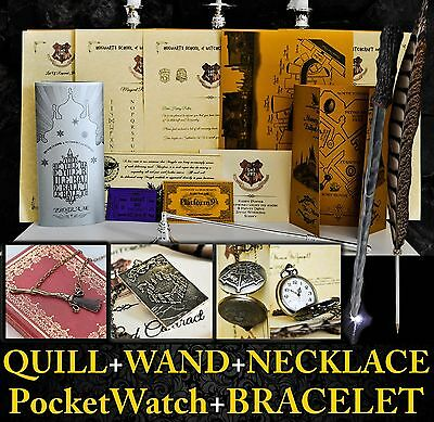Harry Potter Personalised Gift Set Marauders Map Wand Quill Pen Hogwarts Letter