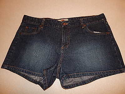 Womens Route 66  Denim Shorts Stretch  Size 16