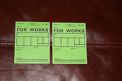"""British Railways Vehicle Defect Cards  """"For Works"""""""