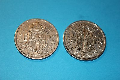 TWO UK Half-Crown coins dated 1949 & 1956