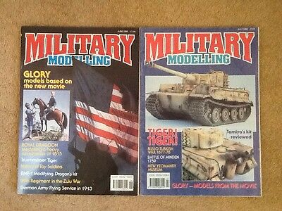 Military Modelling Magazines 2 Issues From June And July1990 OOP