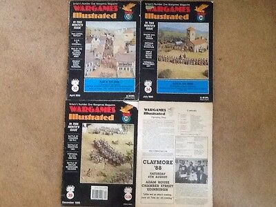 Wargames Illustrated Magazines 4 Issues 20? No Cover, 32,34,39 From 1990 OOP