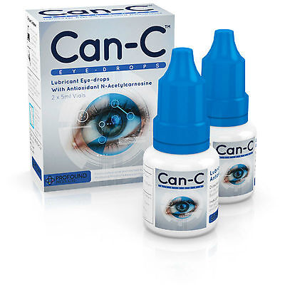CAN-C Eye Drops for reducing, reversing and slowing cataracts 2 x 5ml Vials ..
