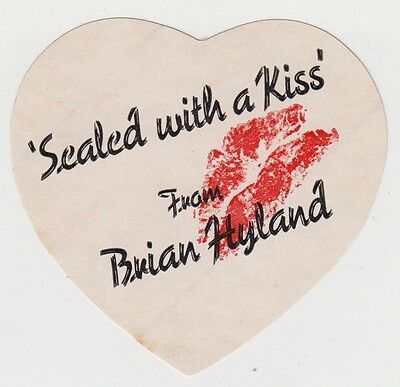 BRIAN HYLAND Sealed With A Kiss 1975 Unused Promo Sticker Original US 1960s Pop