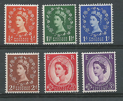 SG 561 - 566 Graphite Lined Issue Unmounted Mint