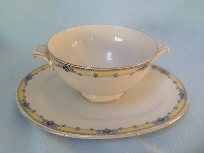 CLASSICAL EDWARDIAN ART NOUVEAU CAULDON China Bowl Servicing Plate Terrine c1905