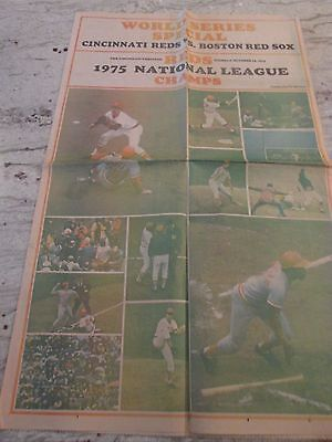 Mlb- 1975 World Series-Color Picture Page-Oct.14,1975=Cincinnati Enquirer Paper