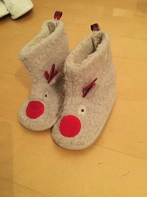 Warm Fluffy Reindeer Slippers 12-18 Months Next