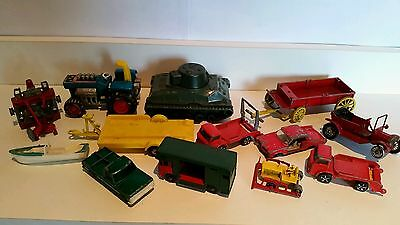 12Vintage Dinky Matchbox/corgi/cars Job Lot In Played With Condition Spares