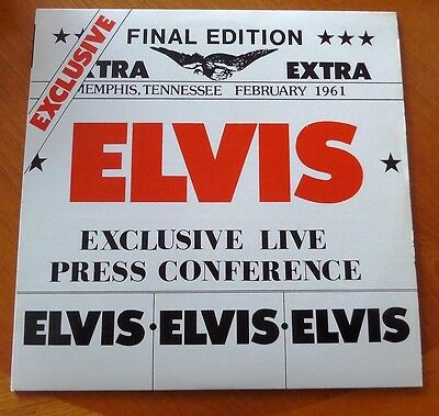 Elvis-Exclusive Live Press Conference-Memphis,tennessee-February 1961-- Vinyl Lp