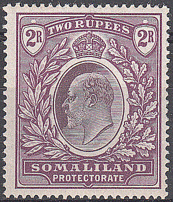 Somaliland Protectorate 1904 SG42 2r Dull and Bright Purple VLMM Rare
