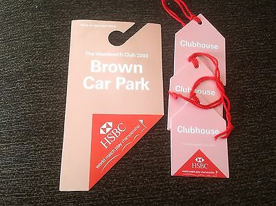 The Wentworth Club 2003 World Matchplay Championships Golf Tickets Collectable