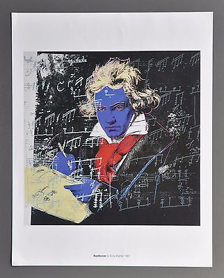 Andy Warhol Ludwig van Beethoven 1987 Original Foundation Color Lithograph 34x43