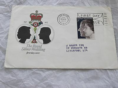 the royal silver wedding first day cover