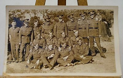 Ww2 Large Group Of Soldiers Thought To Be Royal Artillery. Rppc.