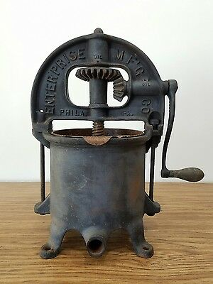 Enterprise Fruit Press Sausage Stuffer 6 Qt Cast Iron