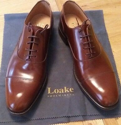 Loake Shoes 806 Size 9F - Tan Leather - RRP £170
