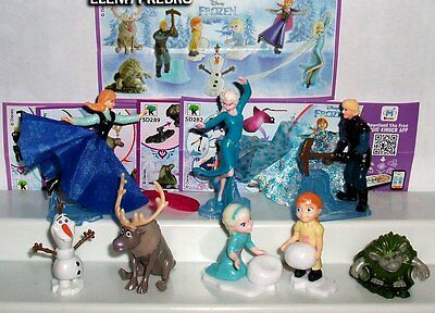 Kinder surprise eggs Disney Frozen Elsa princesses minifigures toys Princess