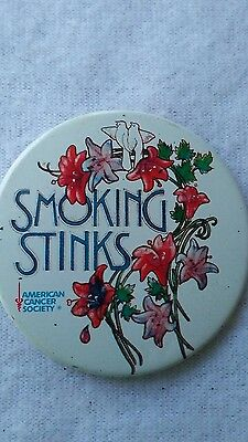 "American Cancer Society ""Smoking Stinks"" Button"