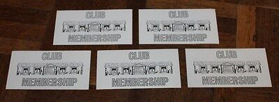 Vintage Ratrace Game Spares * 5 Replacement Club Membership Cards