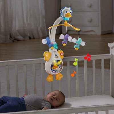 Baby Hand Bed Crib Musical Hanging Rotate Star Light Infant Duck Mobile Toy Gift