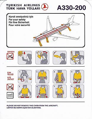 Turkish Airlines A330-200 Safety Card