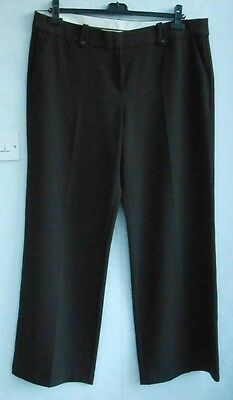 Beautiful Trinny and Susannah brown wide legged trousers size 20 34' leg