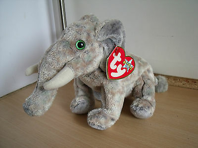 Ty Toys Beanie Babies Pounds the Elephant in very good condition with tag
