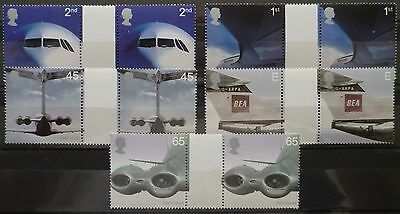 2002 Airliners Gutter Pairs Unmounted Mint Stamp Set Mnh