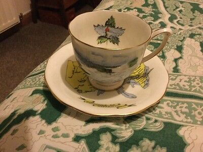 Queen Anne Bone China Ontario Cup And Saucer