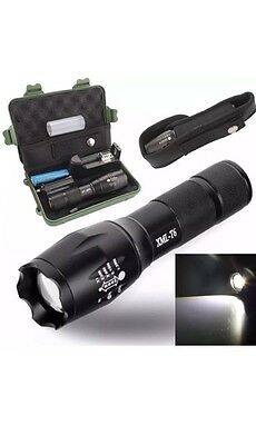 Police Tactical XML T6 LED Military Flashlight Torch Light UK Stock