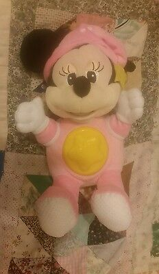 Disney 12 Inch Bedtime Light Up Lullaby Minnie Mouse Soft Toy