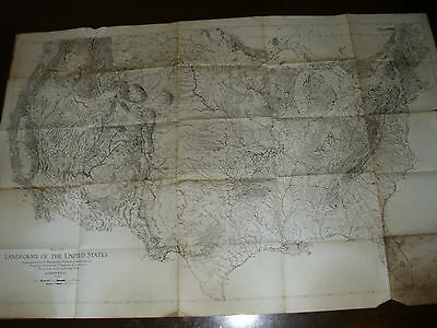 Another 1939 Map Of The Land Forms Of The United States Without Index Map